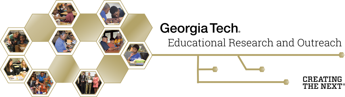 Image - Hexagons with images of K12 STEM students and teachers